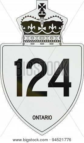 Ontario Highway Shield 124