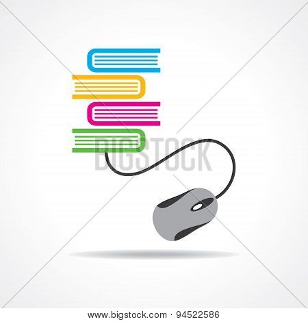 Computer education or e-learning concept stock vector