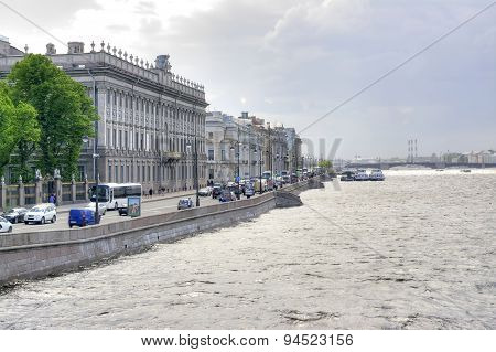 Saint Petersburg. Palace Embankment. Marble Palace