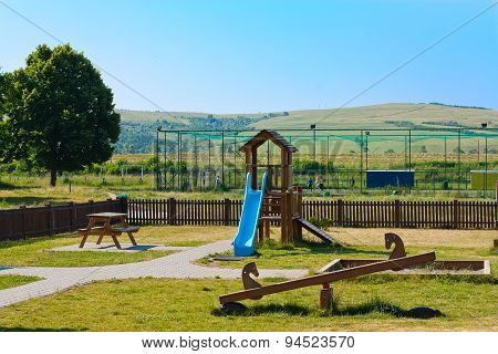 Playground For The Kids In A Large Open Space
