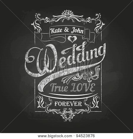 Chalk Drawing.wedding Decorations