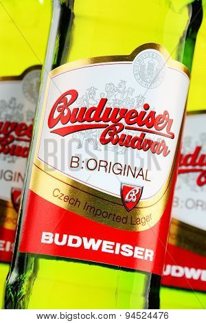 Bottles Of Budweiser Budvar Beer