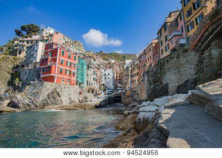 Riomaggiore In La Spezia, Italy