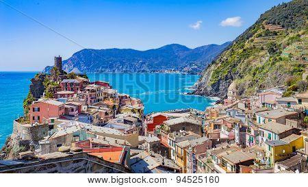 Vernazza In La Spezia, Italy