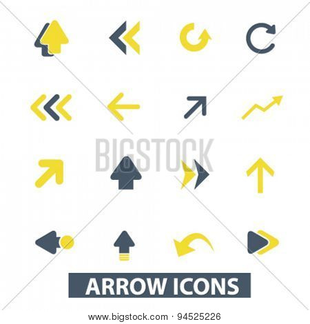 arrow, direction isolated icons, signs, illustrations for web, internet, mobile application, vector