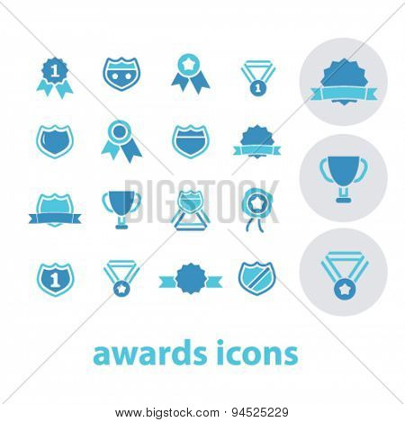 awards isolated icons, signs, illustrations for web, internet, mobile application, vector