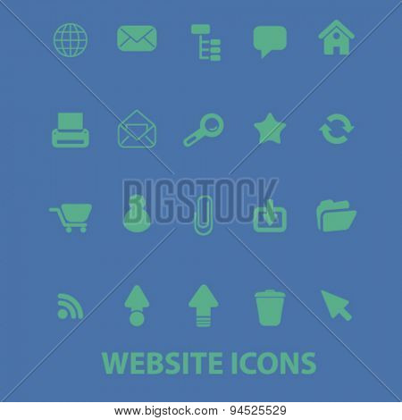 website isolated icons, signs, illustrations on white background for internet, mobile application, vector
