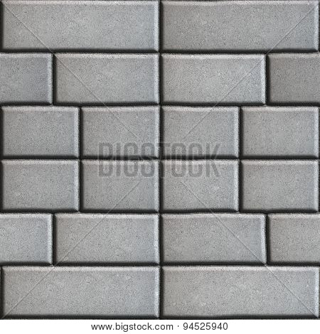 Gray Paving Slabs in the Form Rectangles of Different Value.