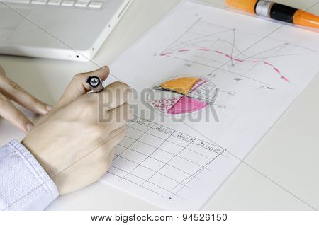 Girl Hands Doing Calculations.