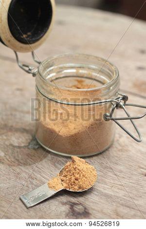Brown Sugar In A Glass Jar