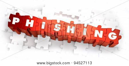 Phishing - White Word on Red Puzzles.