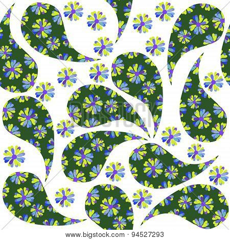 Colorful Green Turkish Cucumber Seamless Pattern And Seamless Pattern In Swatch Menu, Vector