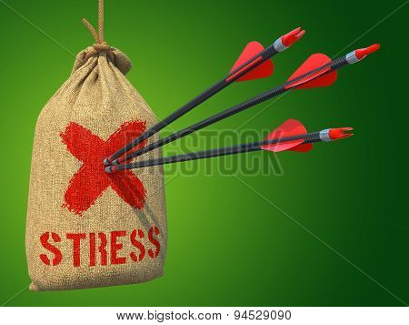 Stress - Arrows Hit in Red Target.
