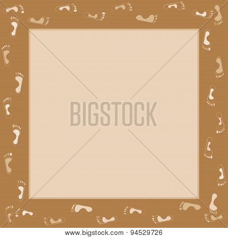 footprints people human vector frame