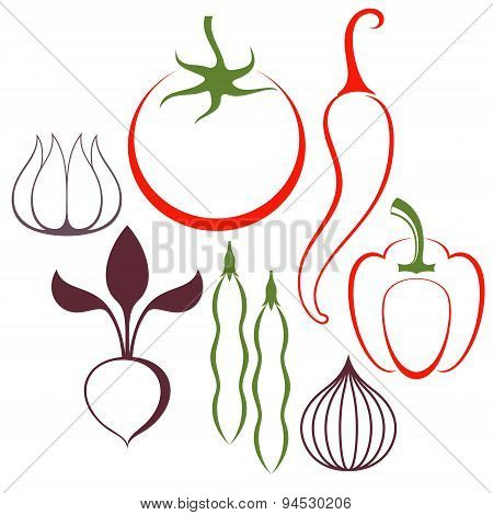 Vegetable. Set