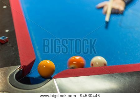 Pool Table With Motion Blur