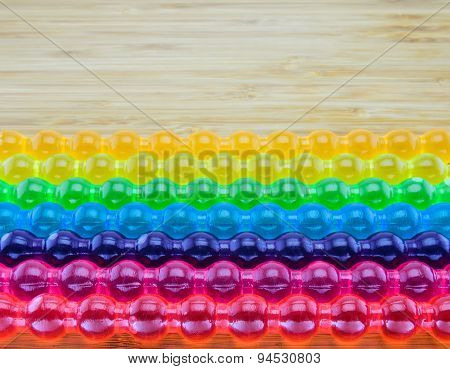 Background Of Rainbow Jelly Stick For Lgbt Concept