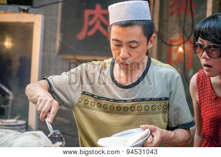 Street food at Muslim Street in Xian