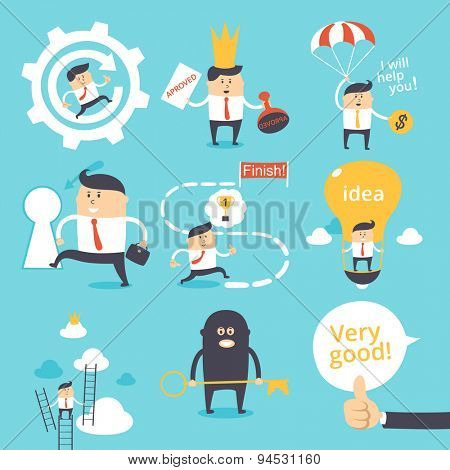 Vector set - funny business