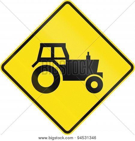 Tractor Crossing In Australia