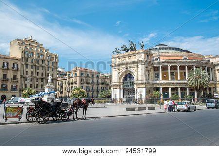 Teatro Politeama in Palermo, Sicily