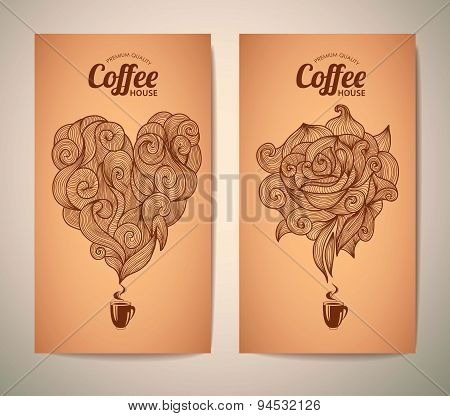 Set Of Coffee Concept Design