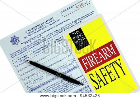 Concealed Weapon Permit Application And Safety  Brochure