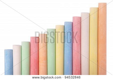 Colored Sidewalk Chalks (clipping Path)