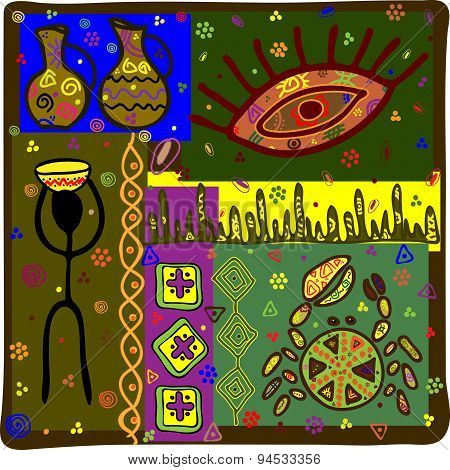 Background In African Ethnic Style