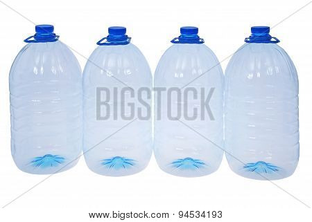 Four Big Bottles Of Water (clipping Path)