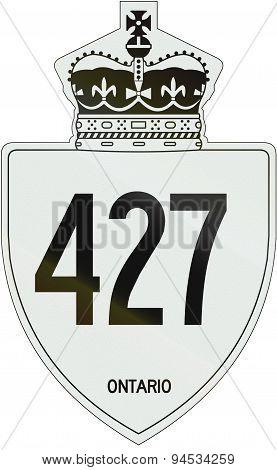 Ontario Highway Shield 427