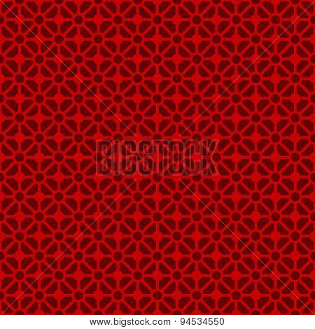 Seamless vintage Chinese window tracery diamond crossed check circle pattern background.