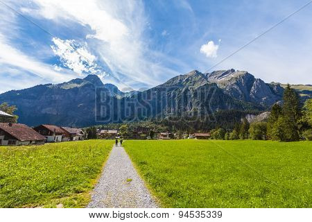 View Of The Alps On The Hiking Path