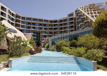 Luxury Resort Hotel With Swimming Pool In Belek, Turkey.