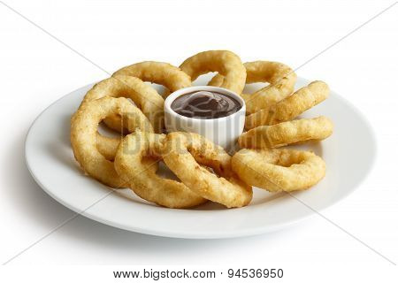 Fried onion or calamari rings