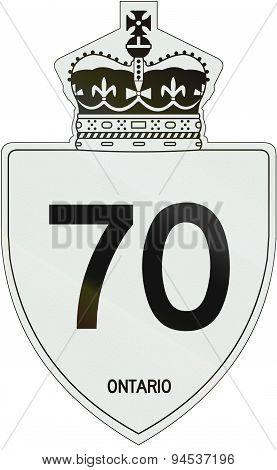 Ontario Highway Shield 70