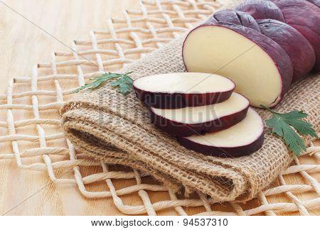 Treccia Braided Mozzarella Cheese Marinated In Red Wine