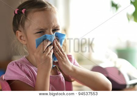 Little girl feels unwell