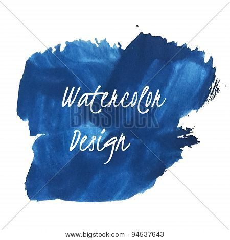 Abstract blue watercolor art
