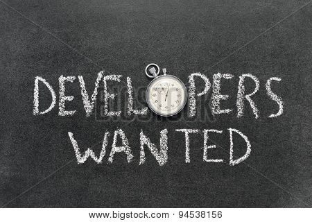 Developers Wanted