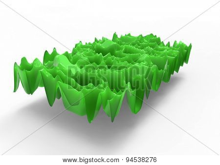 green plastic waves