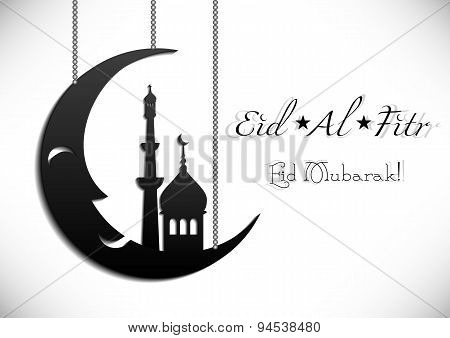 Card For Greeting With Islamic Feast Eid Al-fitr