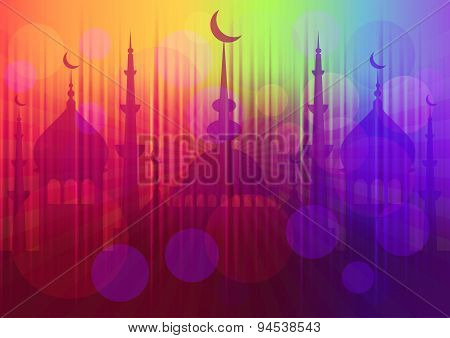 Card For Greeting With Beginning Of Fasting Month Ramadan