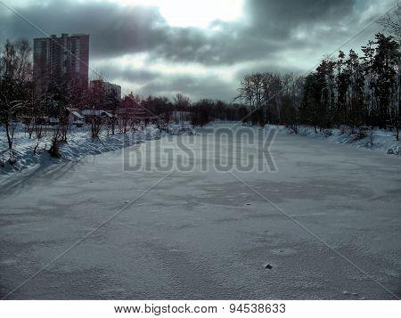 cold winter sky