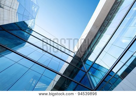 low angle view modern building exterior