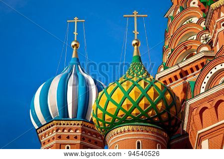 Closeup Of St. Basil's Cathedral Domes
