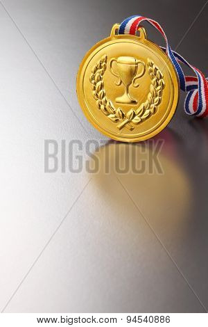 golden medal office on the gray background