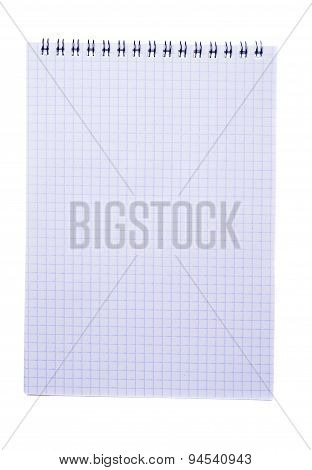 Paper Notebook Isolated On White Background
