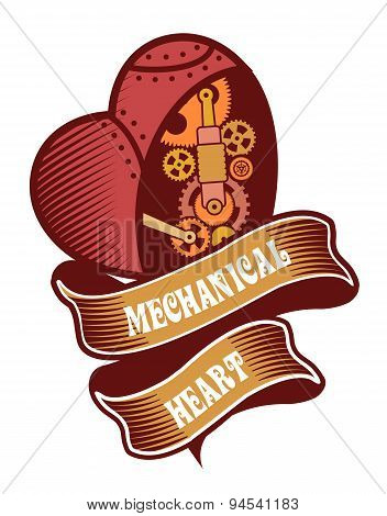 Steampunk Mechanism Heart