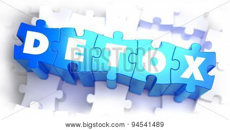 Detox - White Word on Blue Puzzles.